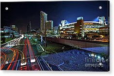Petco Park And Downtown San Diego Acrylic Print by Sam Antonio Photography