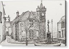 Peter Pan Statue Kirriemuir Scotland Acrylic Print by Vincent Alexander Booth
