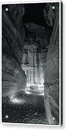 Petra Siq Night Acrylic Print by Stephen Stookey