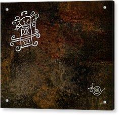 Petroglyph 8 Acrylic Print by Bibi Romer