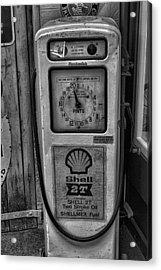 Petrol Pump Acrylic Print by Martin Newman