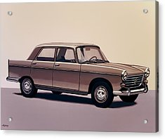 Peugeot 404 1960 Painting Acrylic Print by Paul Meijering
