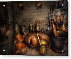 Pharmacy - Alchemist's Kitchen Acrylic Print by Mike Savad