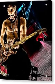 Phil Collen Of Def Leppard 3 Acrylic Print by David Patterson