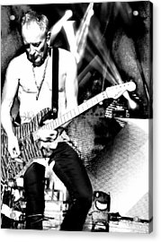 Phil Collen Of Def Leppard 4 Acrylic Print by David Patterson