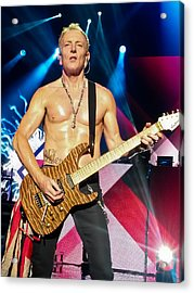 Phil Collen Of Def Leppard 5 Acrylic Print by David Patterson
