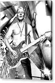 Phil Collen With Def Leppard Acrylic Print by David Patterson