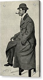 Phil May 1864 1903 English Caricaturist Acrylic Print by Vintage Design Pics