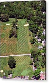 Philadelphia Cricket Club St Martins Golf Course 1st Hole 415 W Willow Grove Avenue Phila Pa 19118 Acrylic Print by Duncan Pearson