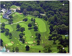 Philadelphia Cricket Club Wissahickon Golf Course 1st And 18th Holes Acrylic Print by Duncan Pearson