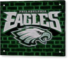 Philadelphia Eagles Electric Sign Acrylic Print by Dan Sproul