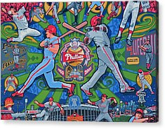 Philadelphia Phillies Acrylic Print by Frozen in Time Fine Art Photography