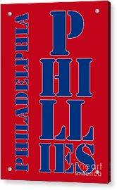 Philadelphia Phillies Typography Acrylic Print by Pablo Franchi