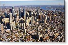 Philadelphia Skyline Aerial Graduate Hospital Rittenhouse Square Cityscape Acrylic Print by Duncan Pearson