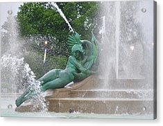 Philadelphia - Swann Memorial Fountain - Logan Square Acrylic Print by Bill Cannon