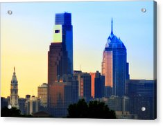 Philly Morning Acrylic Print by Bill Cannon