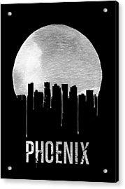 Phoenix Skyline Black Acrylic Print by Naxart Studio