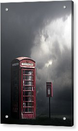 Phone Box With Letter Box Acrylic Print by Joana Kruse