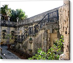 Photography Of Garden With Stair  Acrylic Print by Mario Perez
