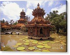 Phra Kaew Pavillion Acrylic Print by Bill Brennan - Printscapes