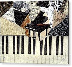 Piano Concerto Acrylic Print by Loretta Alvarado