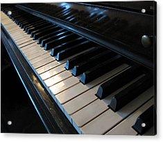 Piano Keys Acrylic Print by Anthony Rapp