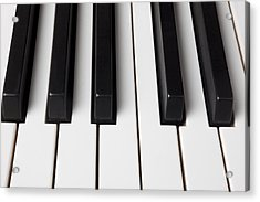 Piano Keys Close Up Acrylic Print by Garry Gay