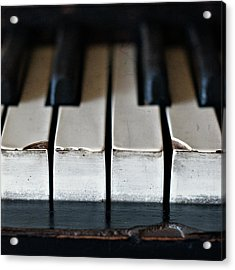 Piano Keys Acrylic Print by Julie Rideout