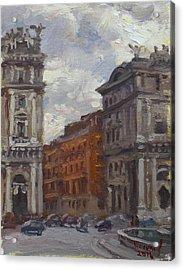 Piazza Della Repubblica Rome Acrylic Print by Ylli Haruni