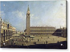 Piazza San Marco Venice  Acrylic Print by Canaletto
