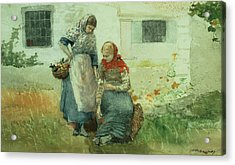 Picking Flowers Acrylic Print by Winslow Homer