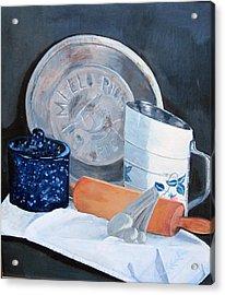 Pie Baking Acrylic Print by Paula Pagliughi