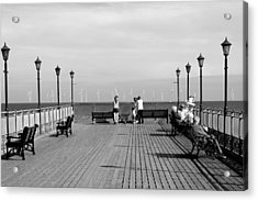 Pier End View At Skegness Acrylic Print by Rod Johnson