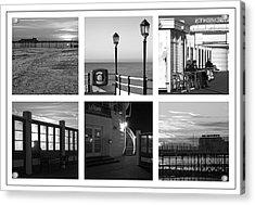 Pier Moods Acrylic Print by Hazy Apple