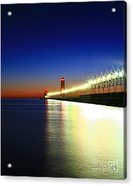 Pier Reflection Acrylic Print by Robert Pearson