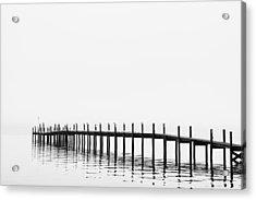 Pier Acrylic Print by Skip Nall