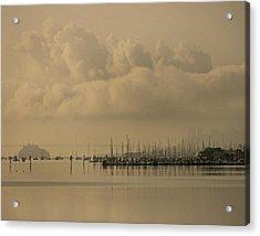 Pier Acrylic Print by Vari Buendia