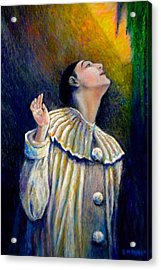 Pierrot's Peering Into The Light Acrylic Print by Michael Durst