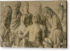 Pieta Acrylic Print by Giovanni Bellini