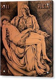 Pieta Study Acrylic Print by Hanne Lore Koehler