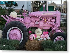 Pigeon Forge Tractor Acrylic Print by Laurie Perry