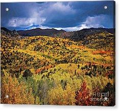 Pikes Peak Autumn Acrylic Print by Jon Burch Photography