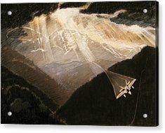 Pikes Peak Flight Acrylic Print by Nils Beasley