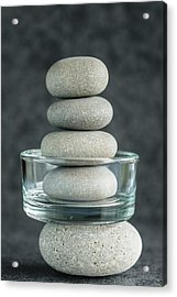 Pile Of Pebbles IIi Acrylic Print by Marco Oliveira