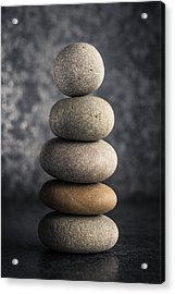 Pile Of Pebbles Acrylic Print by Marco Oliveira