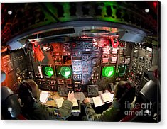 Pilots At The Controls Of A B-52 Acrylic Print by Stocktrek Images