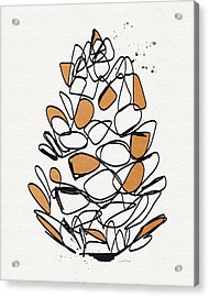 Pine Cone- Art By Linda Woods Acrylic Print by Linda Woods