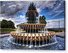 Pineapple Storm Acrylic Print by Drew Castelhano