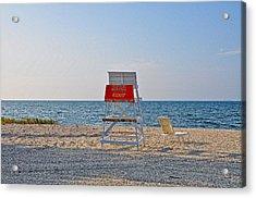 Piney Point Beach Acrylic Print by Bill Cannon