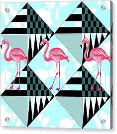 Ping Flamingo Acrylic Print by Mark Ashkenazi
